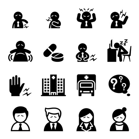 dizziness: office syndrome icon