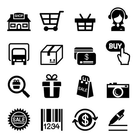 Ikona Zakupy online Ilustracje wektorowe