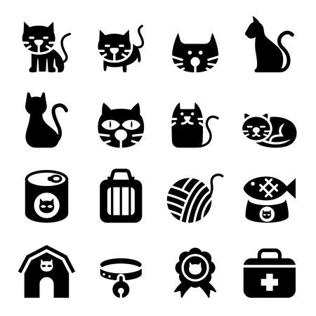 silueta de gato: Icono del gato