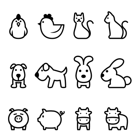 Icône d'animal de base Vecteurs