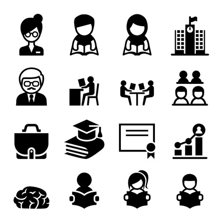 Learning & Education icon Stock Illustratie