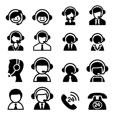 answering phone: Customer service icon