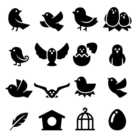 Vogel-Silhouette Symbol Vektorgrafik