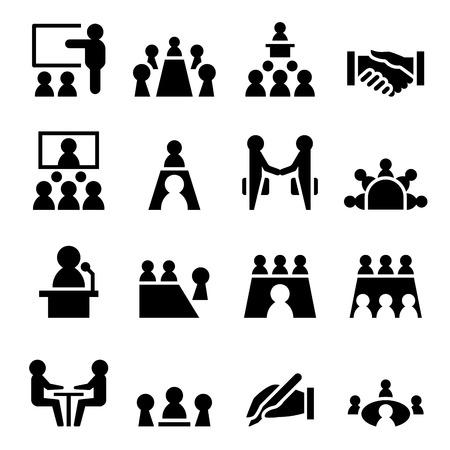 Meeting & icoon Conference Vector Illustratie