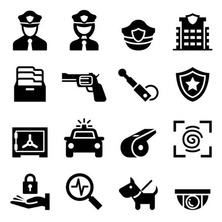 security icon: Police & Security guard icon