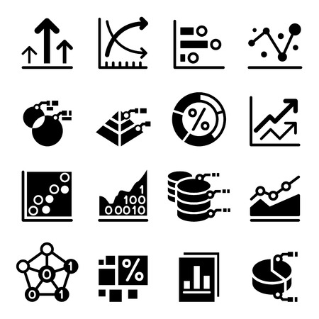 graphic business diagram collection: Business data icon, Business diagram ,business graph