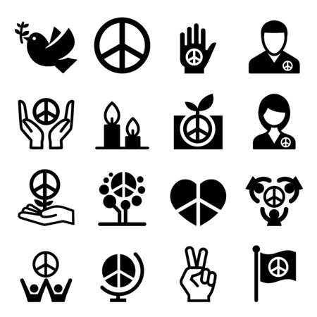 world war two: Peace icon Illustration