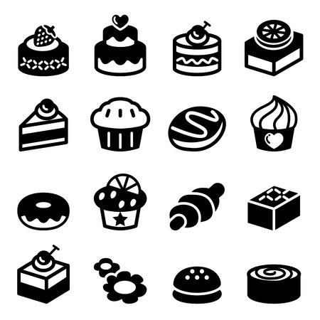 fruit cake: Dessert & bakery icon set
