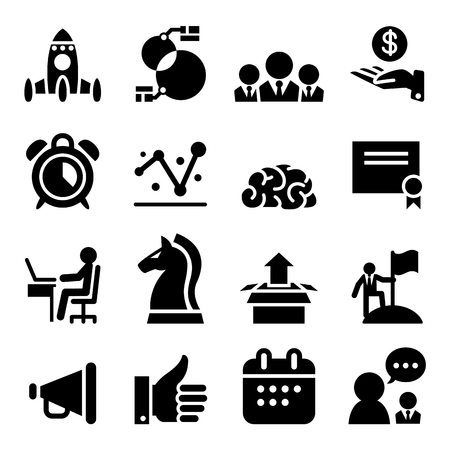 clip art cost: Startup business icon set