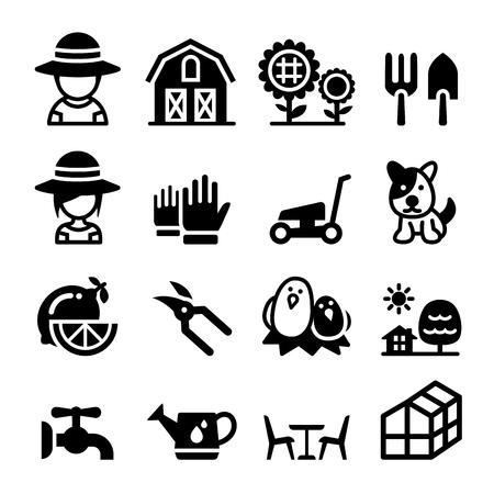 lawn furniture: Garden icon set