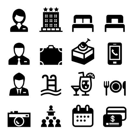 hotel icon set: Hotel icon set