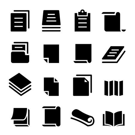 Paper icon set