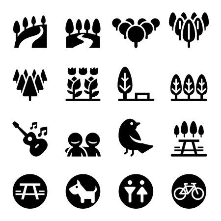 moutain: Park icon set Illustration