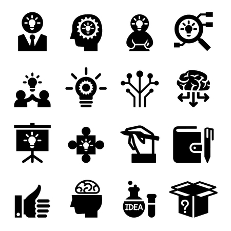 relate: Idea icon set Illustration