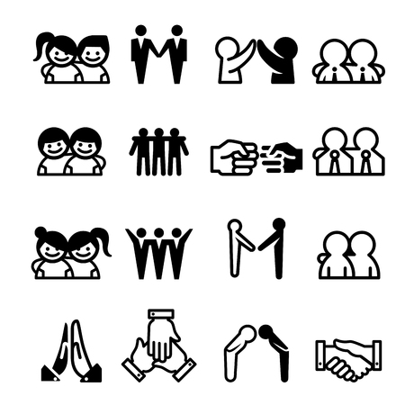 teammate: Friend Friendship Relationship Teammate Teamwork Icon set