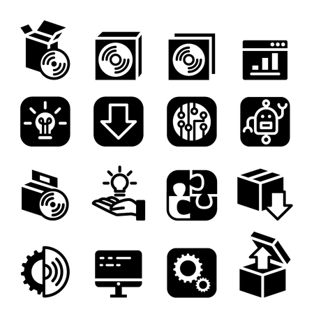 Setup , configuration , setting , plug-in , maintenance & Installation icon Software & Application