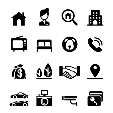 real estate: Real estate icon set