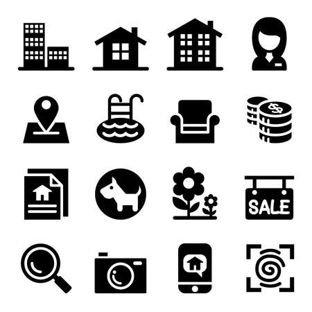 real estate: Real estate icons set