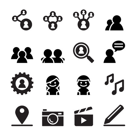 relate: Social network , Social media icon set