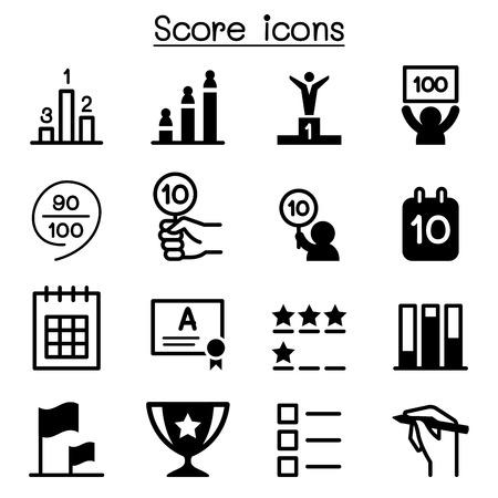 Score icons Vektorové ilustrace