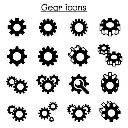 Gear , Repair , fixing icon set 일러스트
