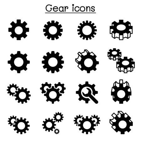 Gear , Repair , fixing icon set Vettoriali