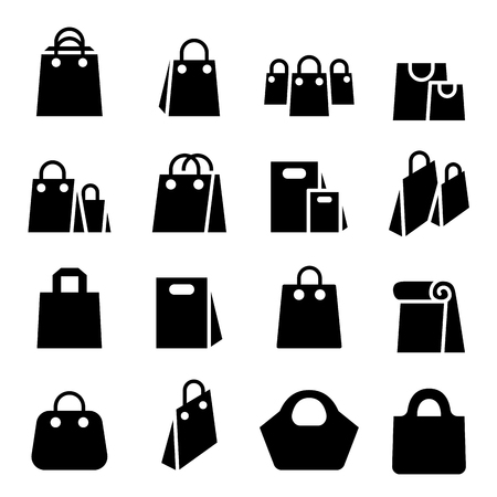 Shopping Bag icon set Stock Illustratie