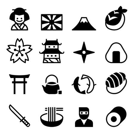 Japan icons ,Vector symbol