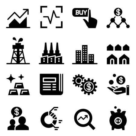 stock: Stock market & Stock exchange icons Illustration