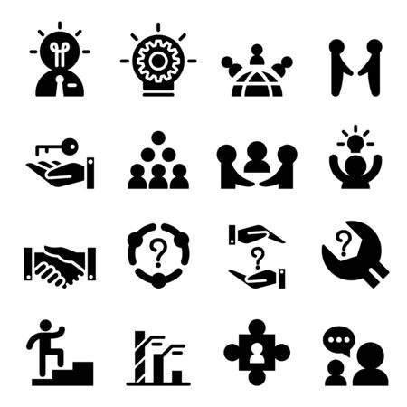 chat room: Consultant icon set