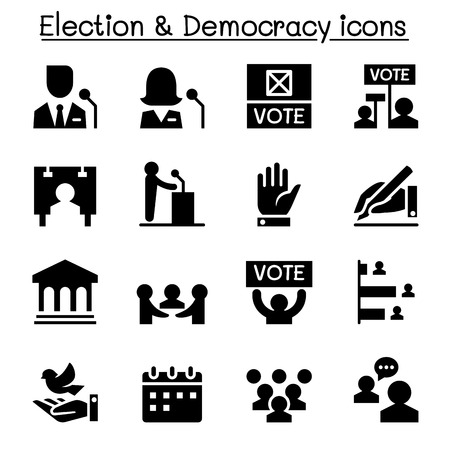 democracy: Voting ,Democracy , Election, icon