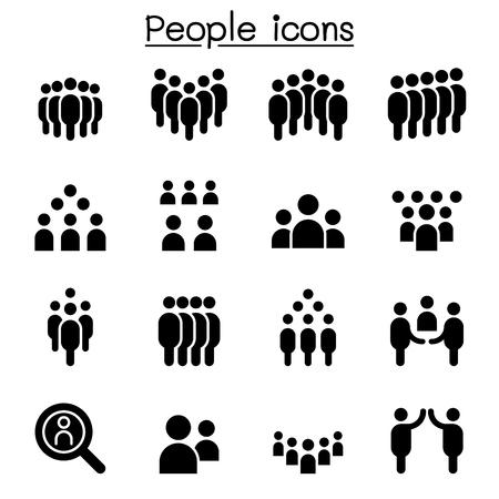 People icon set vector illustration