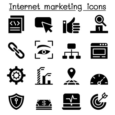 finding: Internet Marketing & SEO icon Set Vector illustration Graphic design