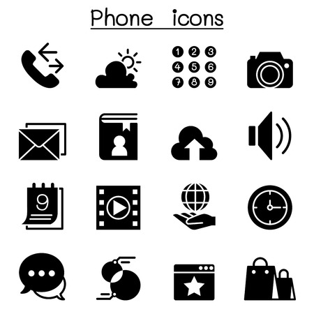 Phone icon set Vector illustration Graphic Design