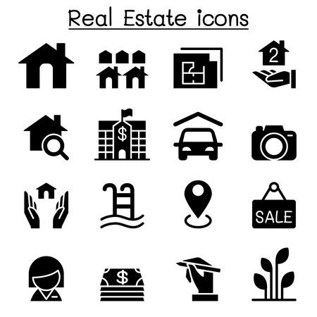 Real Estate Business icon set Vector illustration Graphic Design Ilustrace