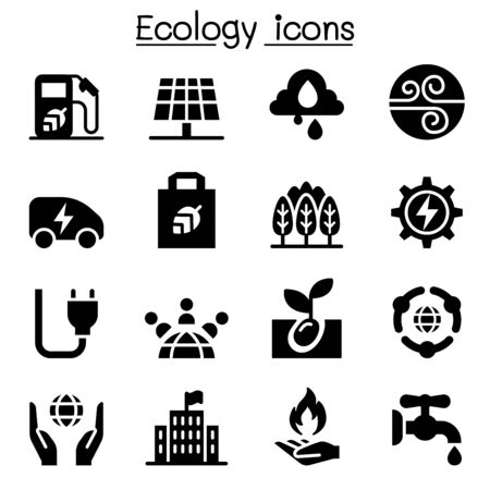 Ecology, Green Energy icon set