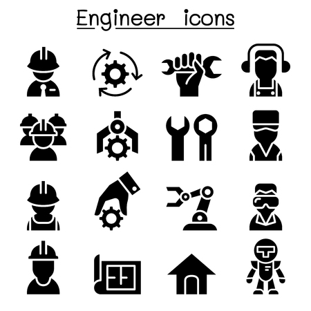 Engineer icon set