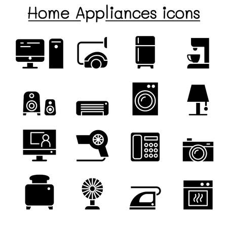 Appliance icon set vector illustration graphic design