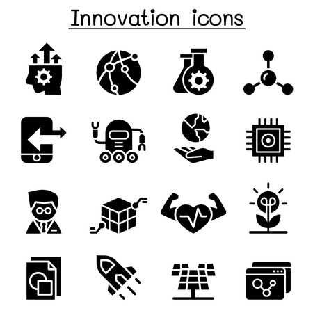 Innovation & Technology icon set