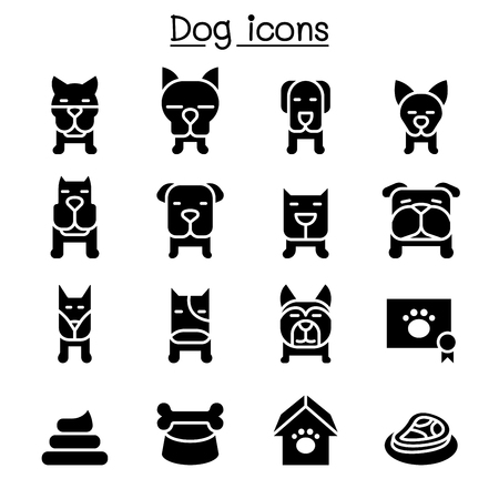 Dog icon set vector illustration graphic design