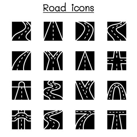 Road icon set vector illustration graphic design