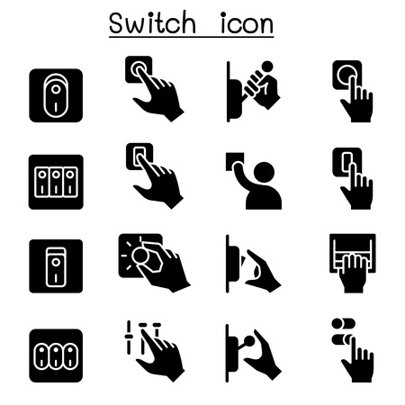 Switch icon set