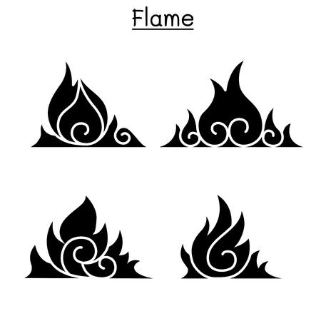 Flame, fire, burn vector  Illustration