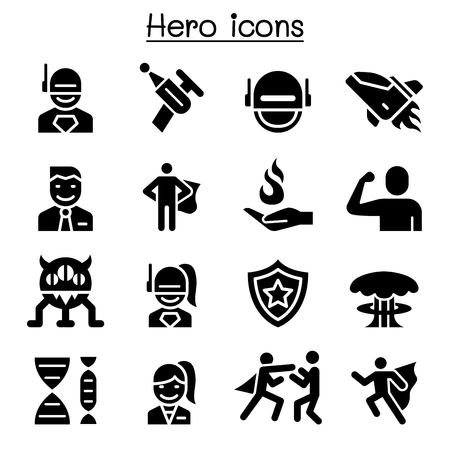 Hero icon set  向量圖像