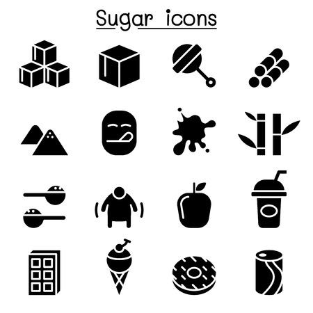 Sugar icon set Ilustração
