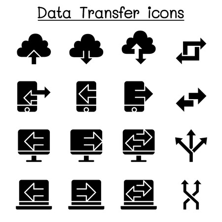 Computer Data Transfer icon set