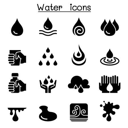 Water icon set Stock Illustratie