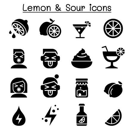 Lemon & sour icon set