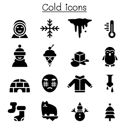 Cold icon set