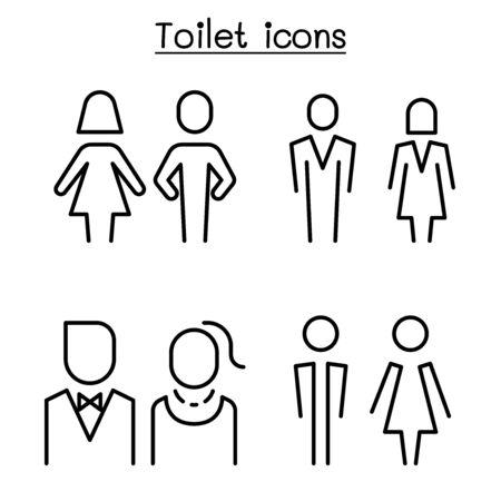 Toilette, Toilette, Badezimmersymbol im modernen Stil